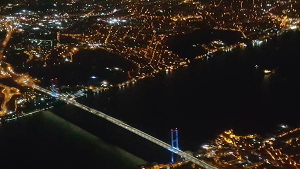 اسطنبول من الطائرة