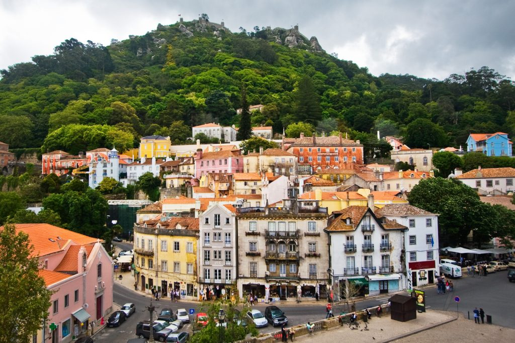 A lovely town, a must see in Portugal. Wikipedia: The town was already described in the 11th century by the Arab geographer Al-Bacr and later by the poets Luís de Camões and Lord Byron (Childe Harold's Pilgrimage - 1809). The Moors built the Castelo dos Mouros in the 8th or 9th century. When Afonso Henriques, with the aid of Crusaders, recaptured Sintra in 1147, much of the castle was destroyed. Only four square towers, the battlements, and the ruins of a Romanesque chapel survived.
