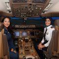 Shaesta-Waiz-and-Bakhita-Al-Muheiri-at-the-state-of-art-simulator-at-Emirates-Aviation-College
