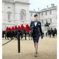 British Airways purser and The Royal Guard in London full-body
