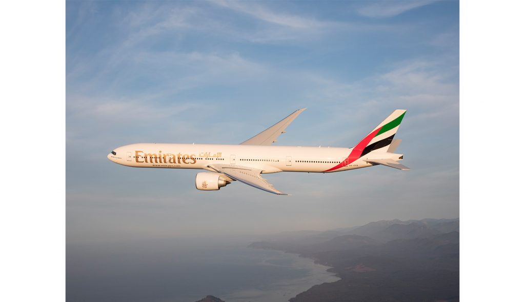 An Emirates Boeing 777-300ER (1)