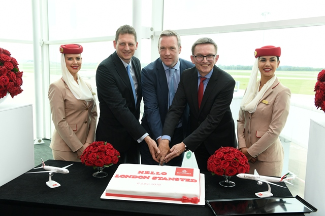 Celebrating Emirates new daily service between Dubai and London Stansted