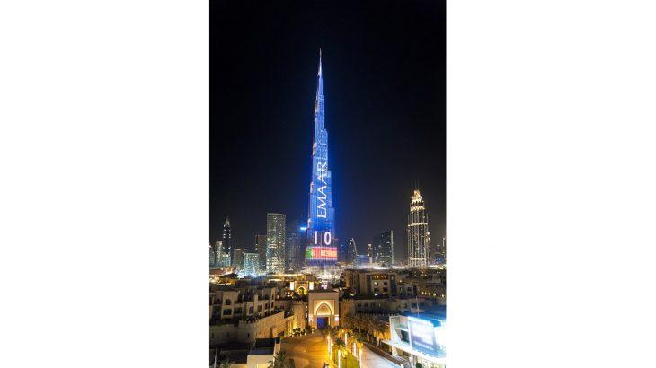Worlds highest Football Live Scoreboard on Burj Khalifa 1