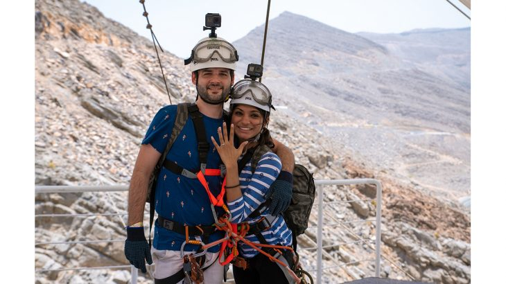 Zipline marriage proposal 3
