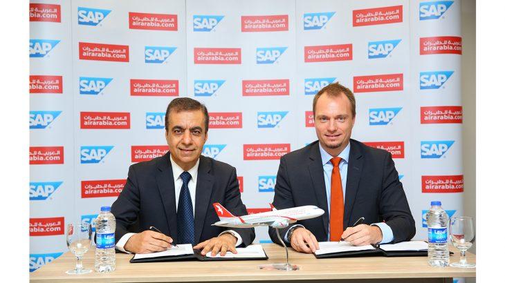 Adel Al Ali, Group CEO, Air Arabia & Julien Bertin, Managing Director, SAP during signing ceremony