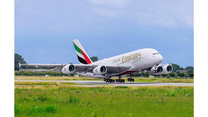 An Emirates Airbus A380 (2)