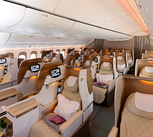 Business Class Cabin on Boeing 777 - 300ER