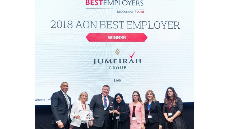 Jumeirah wins Best Employer 2018 Aon Hewitt - Team 1
