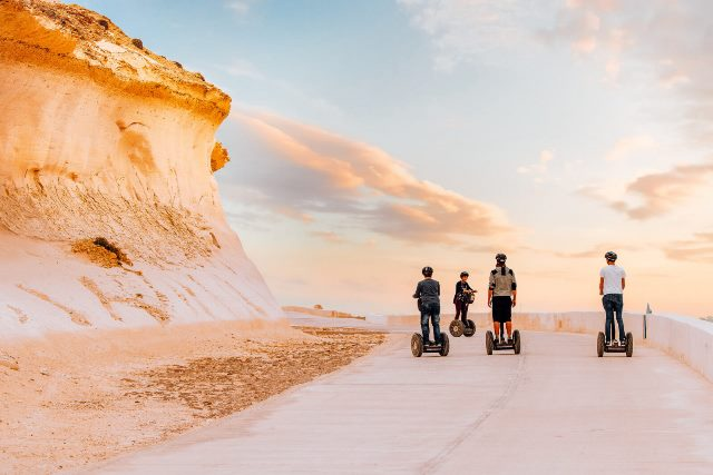 Family-on-segways-in-Xwejni-Gozo