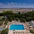 Daytime view over Rome from hotel terrace