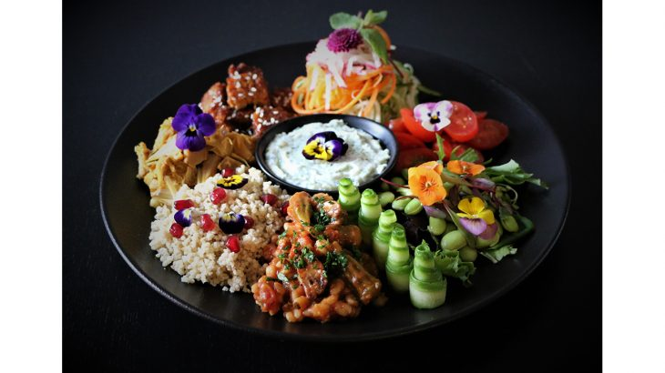 Vegan Iftar - Grain & Protein Platter