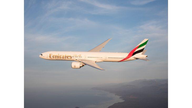 An Emirates Boeing 777-300ER