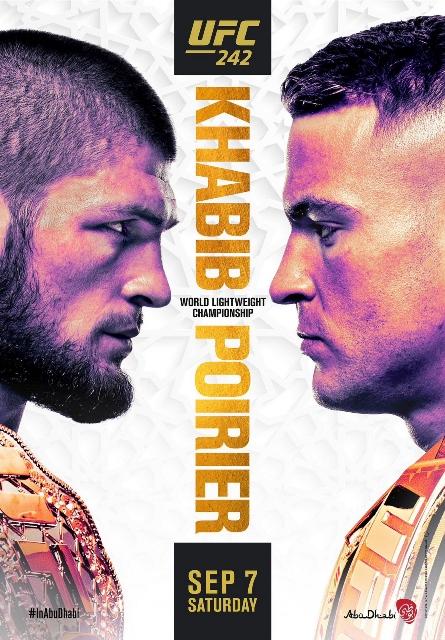 UFC 242 Official Poster