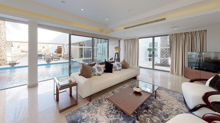 Villa-Layali-At-Melia-Desert-Palm-Living-Room