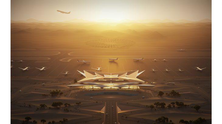 AMAALA international airport - sunset view